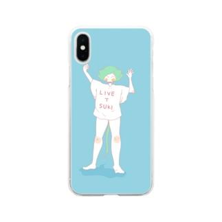 『LIVE T SUKI』ライブTのねこぱんちゃん Soft clear smartphone cases