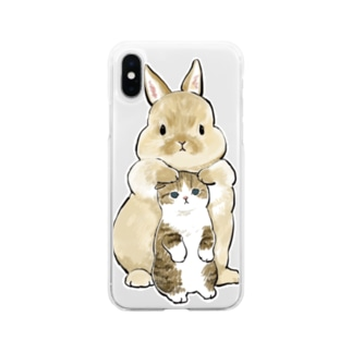 ちっこいねこ Soft clear smartphone cases