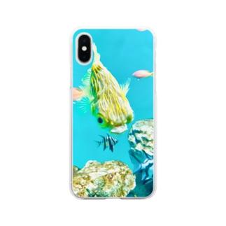 ハリセンボン Soft clear smartphone cases