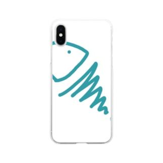 むき出しのさかな Soft clear smartphone cases