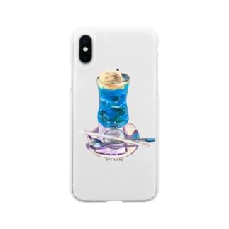 くりーむそーだ2 Soft clear smartphone cases