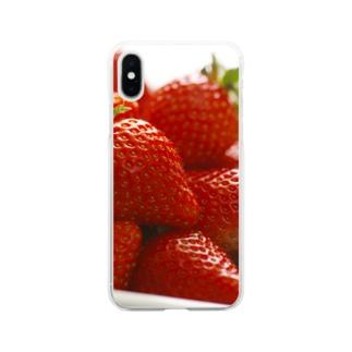 山積みいちご Soft clear smartphone cases