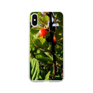 ユスラウメ Soft clear smartphone cases