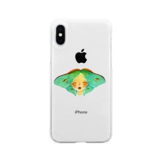 蛾 Soft clear smartphone cases