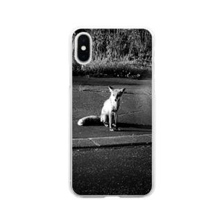 キタキツネくん Soft clear smartphone cases