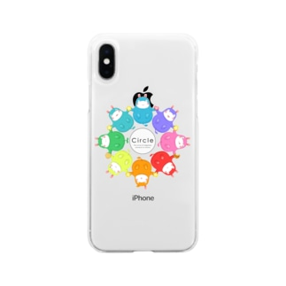 toshimaruのカバロバ circle Soft clear smartphone cases