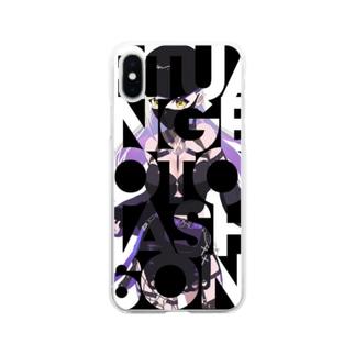 音無むおん⚡ショップSUZURI店の音無むおん イニシャルデザイン Soft clear smartphone cases