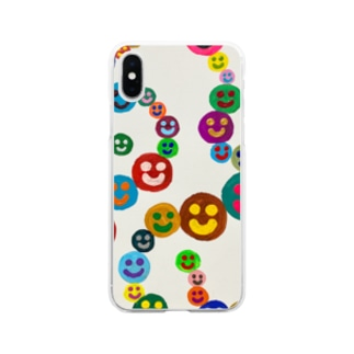 smile star Soft clear smartphone cases