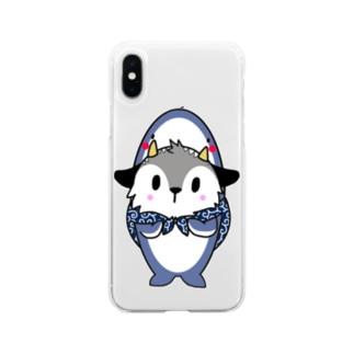 しゃーくあきんどくん Soft clear smartphone cases