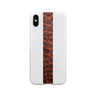 スネークウッド Soft clear smartphone cases