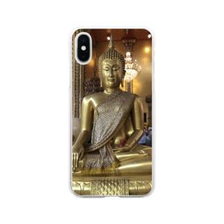仏1 Soft clear smartphone cases