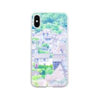 フランスの美しい村  Soft clear smartphone cases