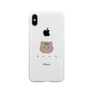 くま Soft clear smartphone cases