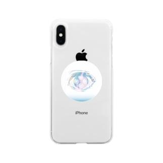 もやもやの目 Soft clear smartphone cases