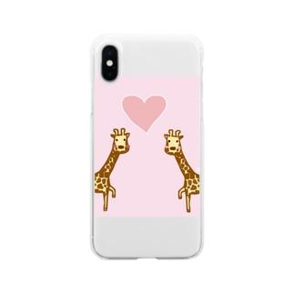 キリンカップル Soft clear smartphone cases