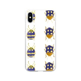 ズングリハムシくん Soft clear smartphone cases