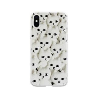 ネコうじゃ Soft clear smartphone cases