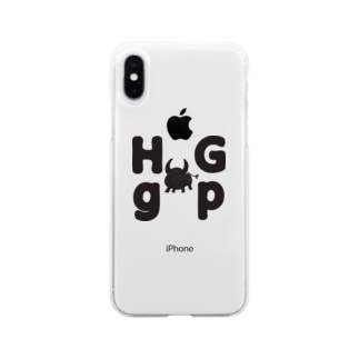 HG gp 牛イラスト Soft clear smartphone cases