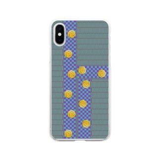 畳1(黒田) Soft clear smartphone cases