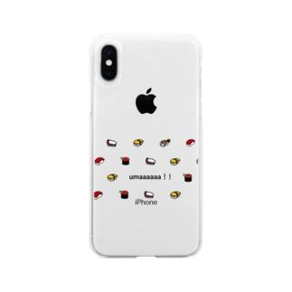 お寿司大好き Soft clear smartphone cases