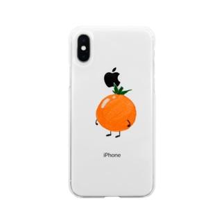 プチトマト Soft clear smartphone cases