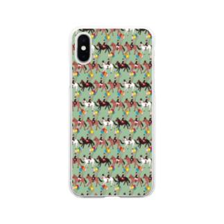 馬術カーニバル Soft clear smartphone cases