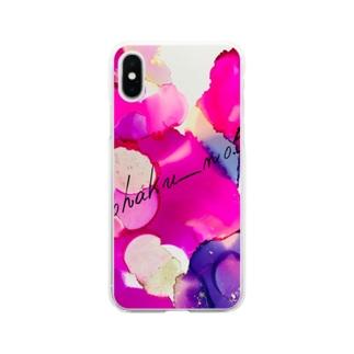 kohaku_no.5(Amber)のビビッドカラー Soft clear smartphone cases