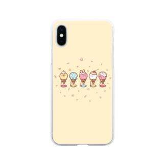 アイスクリームSHOP♡ Soft clear smartphone cases