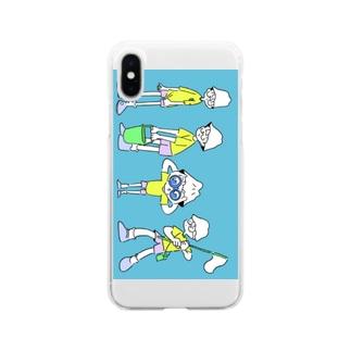レオン堂のSummer camp Soft clear smartphone cases