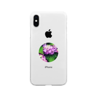 露紫陽花 Soft clear smartphone cases