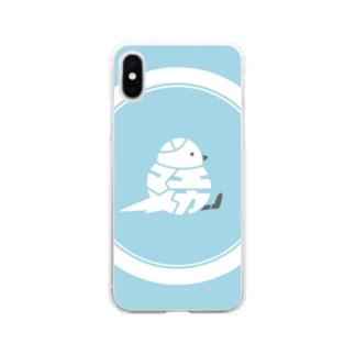22 シマエナガ Soft Clear Smartphone Case