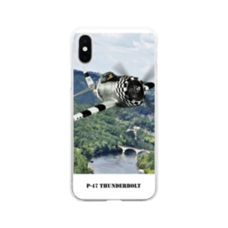 P-47 サンダーボルト Soft clear smartphone cases