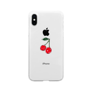 cherry Soft clear smartphone cases