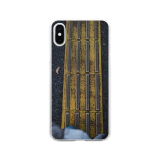 点字ブロック Soft clear smartphone cases