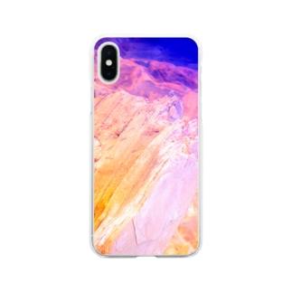 鉱物エメラルドサファイヤウルトラマリン Soft clear smartphone cases