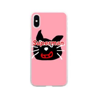 キヨ猫 Superman Soft clear smartphone cases