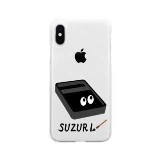 スズリくん Soft clear smartphone cases