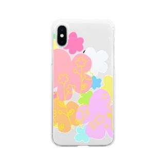 ふらわーず Soft clear smartphone cases