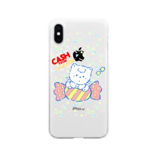 cash from cute Soft clear smartphone cases