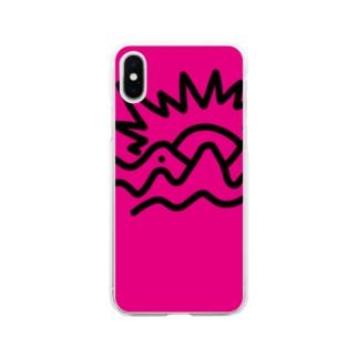 金の山(柄違い) Soft clear smartphone cases