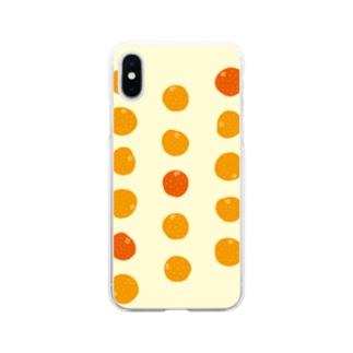 3つのオレンジが、濃い。 Soft clear smartphone cases