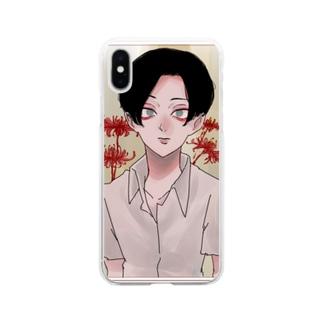 お彼岸 Soft clear smartphone cases