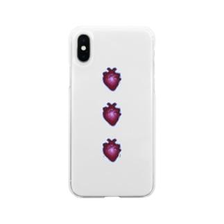心臓 Soft clear smartphone cases