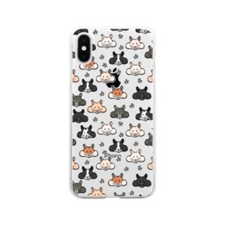 顔面ハムちゃん Soft clear smartphone cases