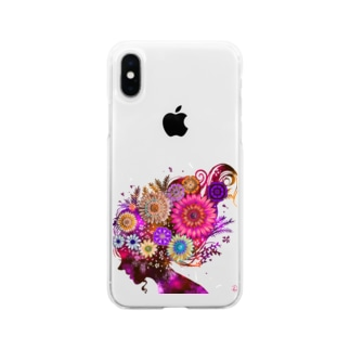 FlowerGirl Soft clear smartphone cases