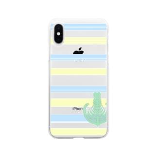ジェラートラテアート /パイナップル×ブルーハワイ Soft clear smartphone cases