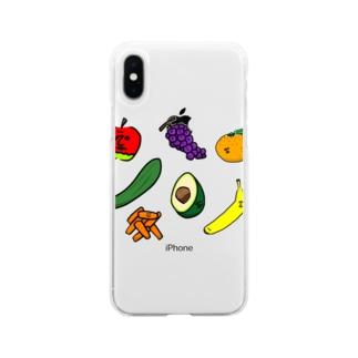 フルーツバスケット Soft clear smartphone cases