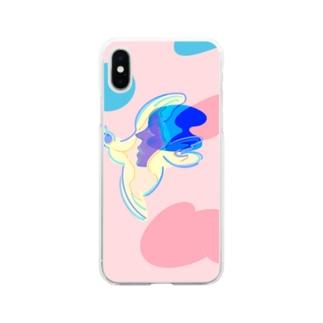 鳥と少女の Soft clear smartphone cases