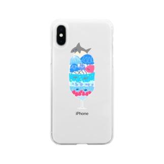 海のパフェ Soft clear smartphone cases