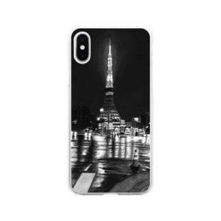 東京タワー×カラーコーン  mono Soft clear smartphone cases